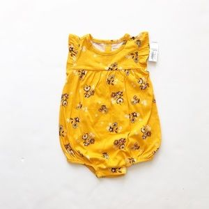 Old Navy NWT yellow floral romper 12-18m & 18-24m